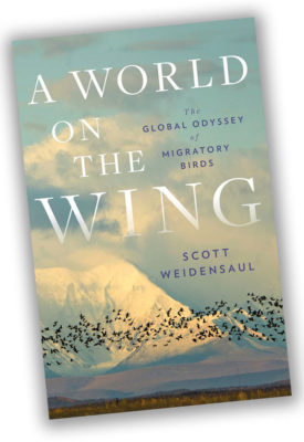 Book cover A world on the Wing by Scott Weidensaul